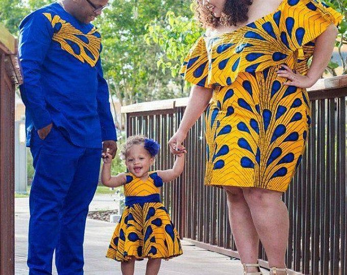 African family outfit, matching African family outfit, Ankara couple, African couple, African family, African kids outfit