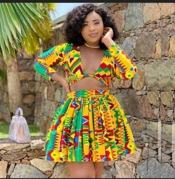 Kente top and skirt African fashion Party dress Women _ Etsy